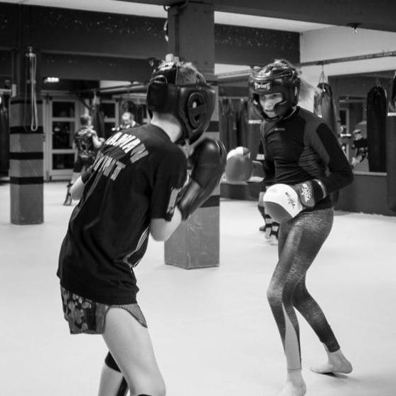 Kickboks training in kleine groep